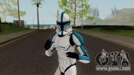 Clone Trooper Blue (Star Wars The Clone Wars) for GTA San Andreas