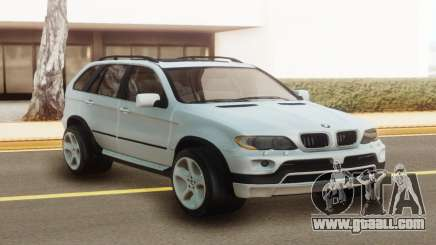 BMW X5 White Stock for GTA San Andreas