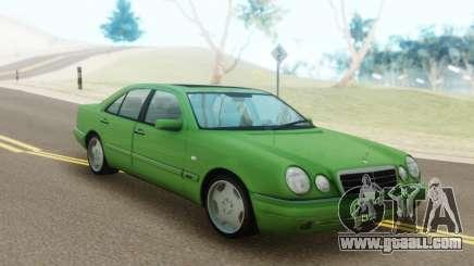 Mercedes-Benz E55 W210 Green for GTA San Andreas