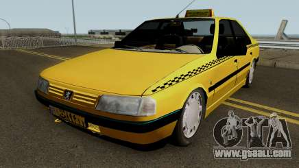 Peugeot 405 GLX Taxi Final for GTA San Andreas