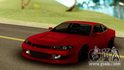 Nissan Silvia S15 Red Stock for GTA San Andreas