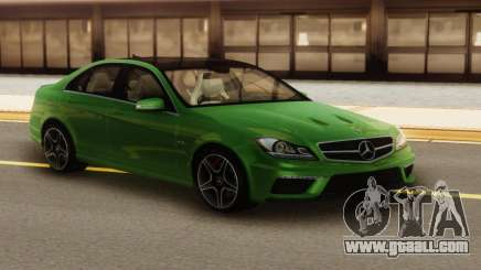 Mercedes-Benz C63 AMG Green for GTA San Andreas