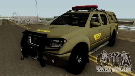 Nissan Frontier Brazilian Police (Verde) for GTA San Andreas