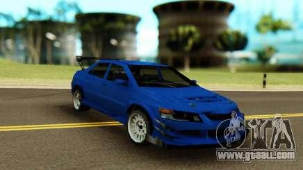 Mitsubishi Evolution 9 Blue for GTA San Andreas