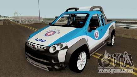 Fiat Strada Locker 2013 PMBA for GTA San Andreas