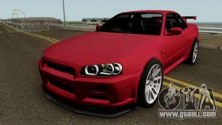Nissan Skyline GT-R R34 1999 for GTA San Andreas