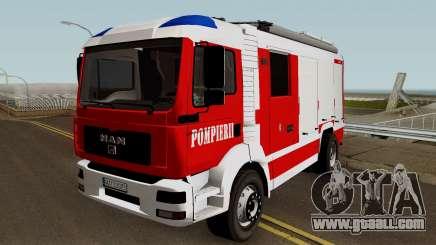 MAN TGA Pompierii (Romanian Firetruck) 2010 for GTA San Andreas