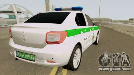 Renault Logan 2016 Policia Iranian for GTA San Andreas