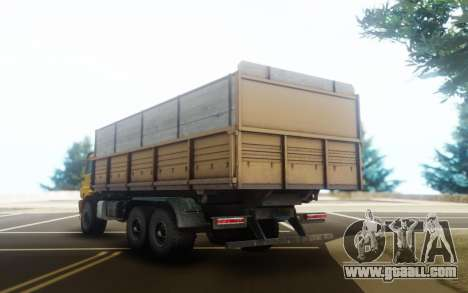 KamAZ 43118 Flatbed trailer for GTA San Andreas