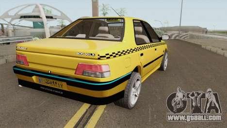 Peugeot 405 GLX TAXI NEW v2 for GTA San Andreas