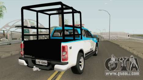Chevrolet S10 PMERJ Com GAIOLA for GTA San Andreas