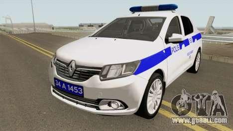 Turkish Police Car Renault Logan for GTA San Andreas