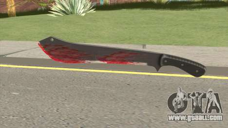 GTA Online Bloody Machete for GTA San Andreas