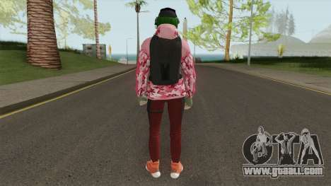 R6S Ela with Christmas Outfit (GTA Online MP) for GTA San Andreas