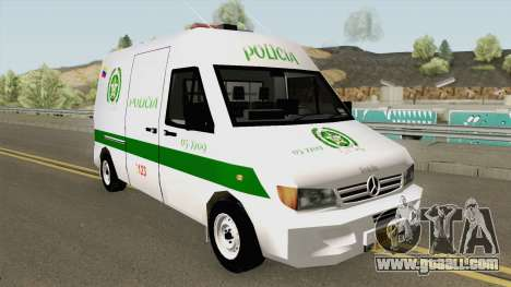 Mercedes Benz Sprinter Policia for GTA San Andreas