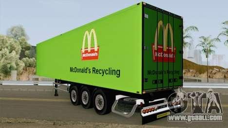 McDonald Recycling Trailer for GTA San Andreas