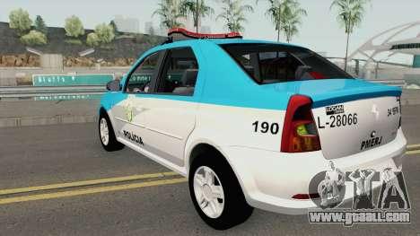 Renault Logan 2011 PMERJ for GTA San Andreas