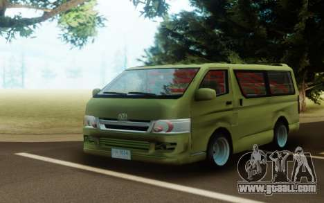 Toyota Hiace Drift for GTA San Andreas