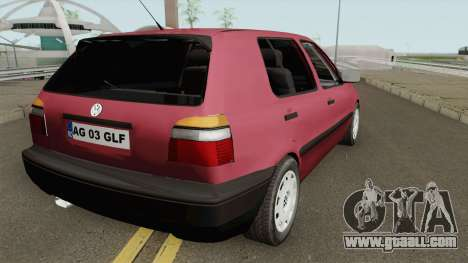 Volkswagen Golf 3 1994 Arges Number Plate for GTA San Andreas