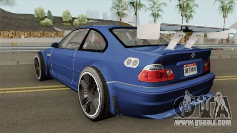 BMW M3 E46 GTR Most Wanted (2012 Style) V1 2001 for GTA San Andreas
