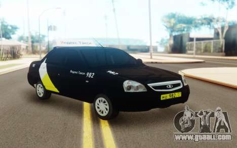 Lada Priora Taxi Yandex for GTA San Andreas
