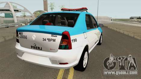 Renault Logan 2011 PMERJ for GTA San Andreas