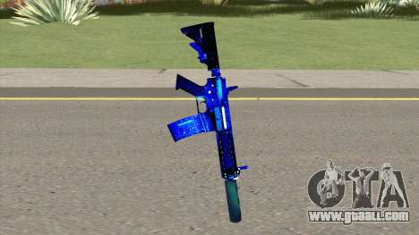 M4A1 Blue Space Silenced for GTA San Andreas