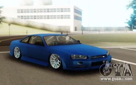 Nissan Silvia S14 Facelift R34 for GTA San Andreas