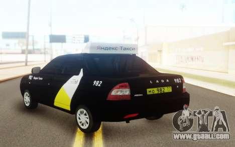 Lada Priora Taxi Yandex for GTA San Andreas