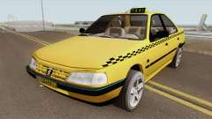 Peugeot 405 GLX TAXI NEW v2 for GTA San Andreas