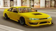 Nissan Silvia S14 Kouki Yellow for GTA San Andreas