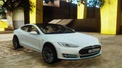 Tesla Model S White for GTA San Andreas