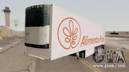 Remolque Alimentos Polar for GTA San Andreas