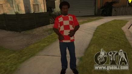 T-shirt of the national team of Croatia for GTA San Andreas