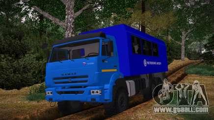 KAMAZ 43118 Rosgeologiya PGO for GTA San Andreas