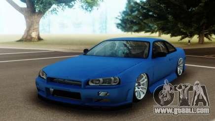 Nissan Silvia S14 Facelift R34 for GTA San Andreas