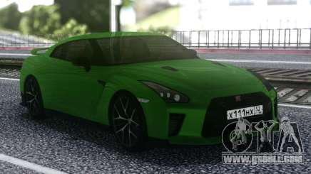 Nissan GT-R R35 Coupe Green for GTA San Andreas
