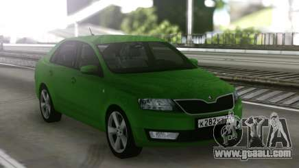 Skoda Rapid Green for GTA San Andreas