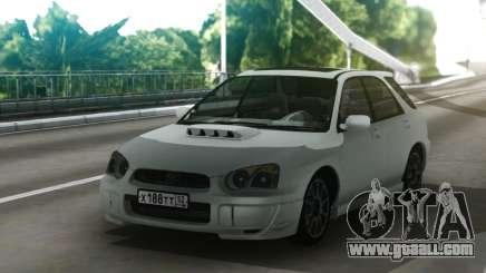 Subaru Impreza WRX Wagon White for GTA San Andreas