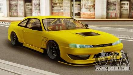 Nissan Silvia S14 Kouki Yellow for GTA San Andreas
