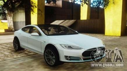 Tesla Model S White for GTA San Andreas