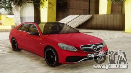 Mercedes-Benz E63 Sedan Red for GTA San Andreas