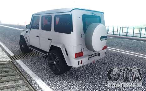 Mercedes-Benz G700 Brabus Widestar for GTA San Andreas