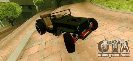 Jeep Willys Flatfender Loose Nuts for GTA San Andreas