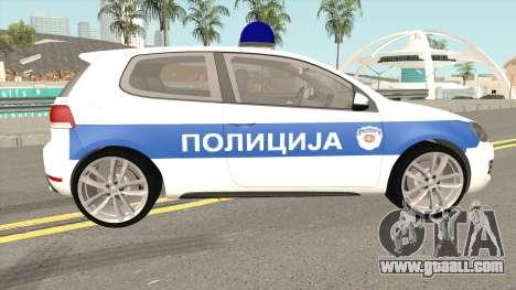 Volkswagen Golf VI Serbian Police for GTA San Andreas