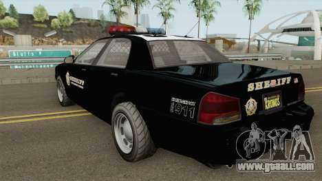 Sheriff Cruiser GTA V for GTA San Andreas