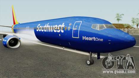 Boeing 737-800 Southwest Airlines (Heart Livery) for GTA San Andreas