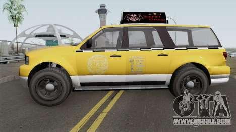 Vapid Prospector Taxi V2 GTA V IVF for GTA San Andreas