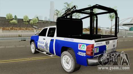 Chevrolet Silverado Policia Estatal Tamaulipas for GTA San Andreas
