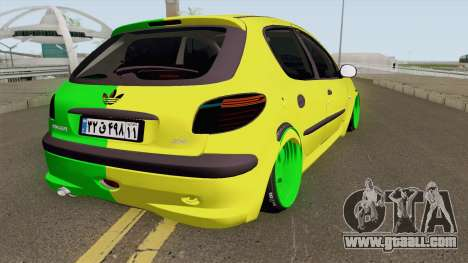 Peugeot 206 Two Face for GTA San Andreas